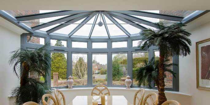 Elegant aluminium framed windows
